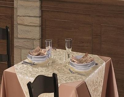 Amenajari restaurante - Fete de masa damasc