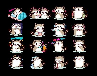 Cute animal sticker sets