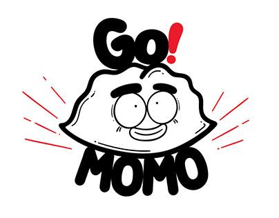 Go!Momo Dumplings: Logo Design & Branding