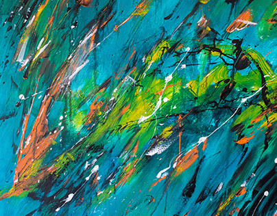 A-MARE CADERE, ABSTRACT PAINTING BY ALLEN PEDICONE