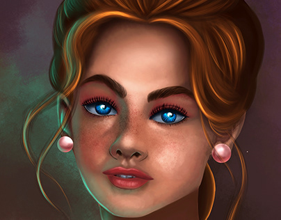 Digital painting face