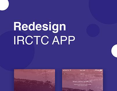 Redesign IRCTC App