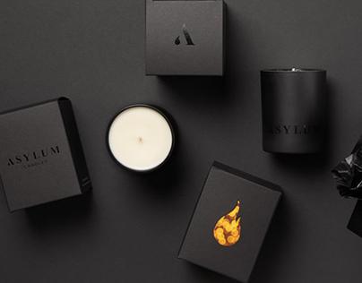 Asylum Candles Packaging