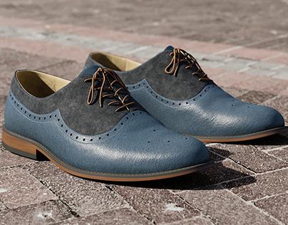 Realistic 3D model of Mens Shoes