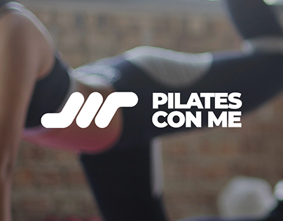 Pilates con me logo design