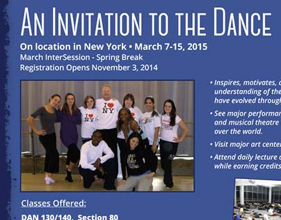 University of Miami - NYC special program flyer