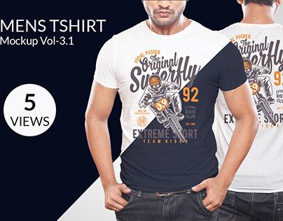 Mens T-shirt Mockup Vol-3.1