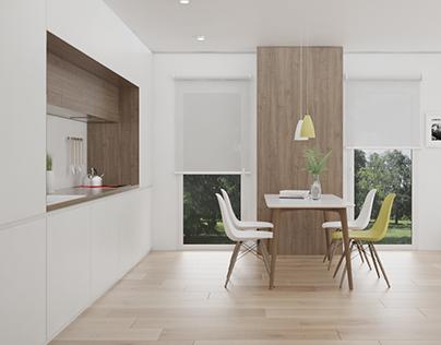 Kitchen. 3D Model + Render
