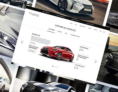 Lexus Egypt Website UI/UX Concept Design