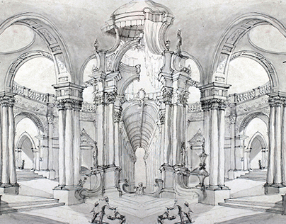 16 Italian Architecture Drawings
