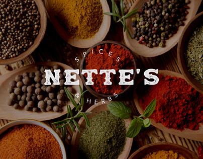 NETTE'S SPICES & HERBS | Packaging Design & Branding