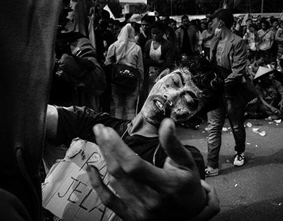RAKYAT BERSATU. depan gedung MPR/DPR. 14 oktober 2014
