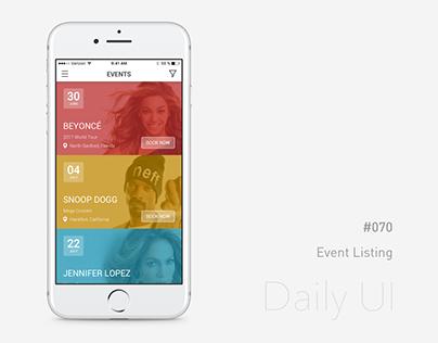 Daily UI - #070