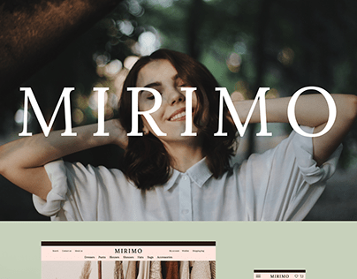 UI/UX-project. Women's clothing store