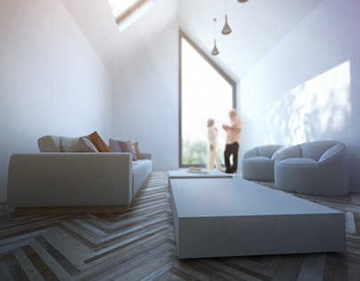 House in Spånga Stockholm 3D Interior Visualisation