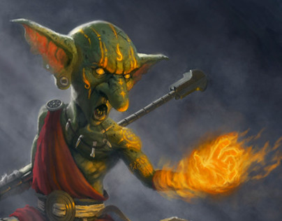 Goblin Monk of the Sacred Flame