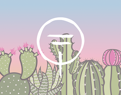 Set of cacti illustrations