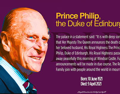 Prince Philip, Duke of Edinburgh-editorial illustration