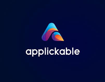 Iconic A App Logo Design.