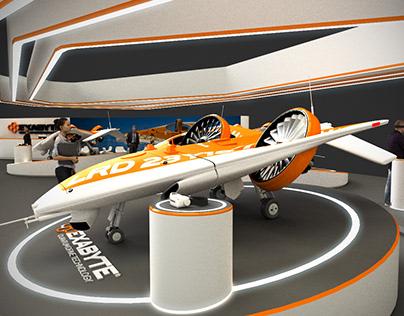 Tilt Drone exhibition stand
