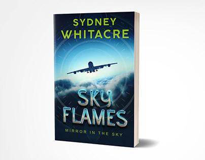 The sky flames book cover design