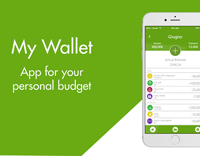 My Wallet - Restyle of a wallet App