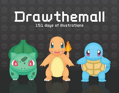 DRAWTHEMALL - Pokedex challenge 151 day of illustration