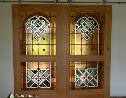 1894 Antique Stained Glass leaded panel Restoration