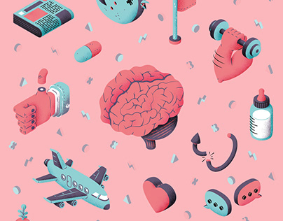 Science Magazine Illustration - Neurons production