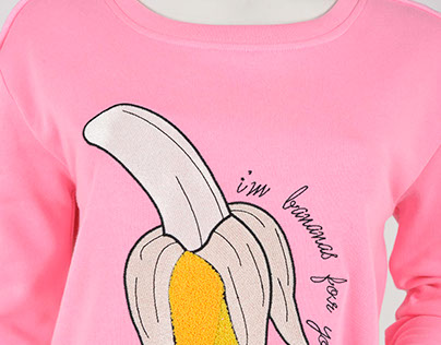 I'm bananas for you embroidery