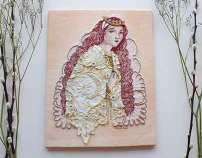 Eleanor of Aquitaine / Hand Embroidery / Medieval Icons