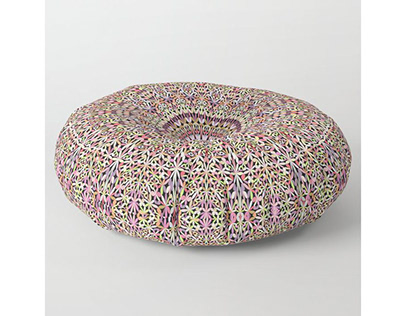 Magical Mandala Garden Floor Pillow