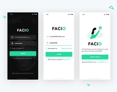 FREE - Facial Recognition App (.PSD & .Sketch)