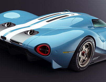 FORD GT RETRO STYLE
