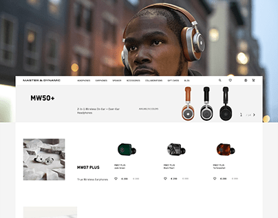 Masterdynamic — concept e-commerce