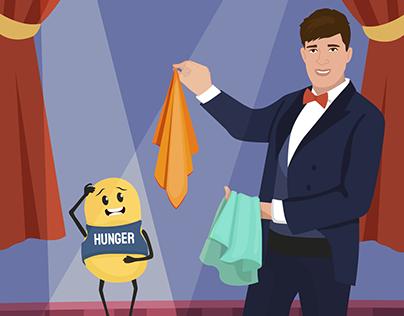 Hunger - busting hacks vector