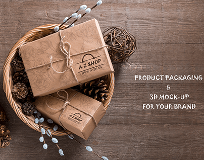 PRODUCT PACKAGING & 3D MOCK-UP FOR YOUR BRAND