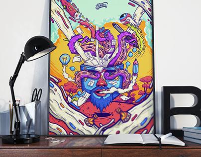 """Poster """"EXPLOSIÓN CEREBRAL"""""""