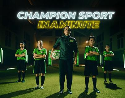 MILO Champion sport in a minute