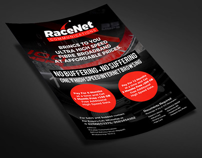Fibre Internet Broadband Flyer Design