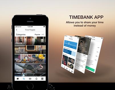 Timebank App Conceptual Design (UX Design Case Study)