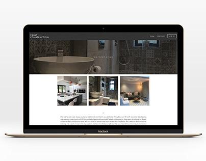 VAULT CONSTRUCTION – WEBSITE DESIGN