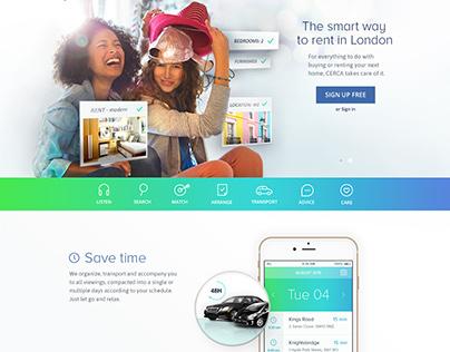 Homepage interface
