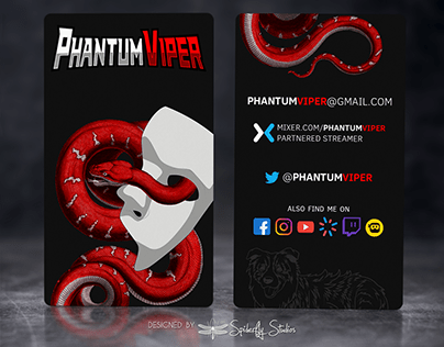 PhantumViper Business Cards