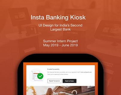 InstaBanking Kiosk | UI Design