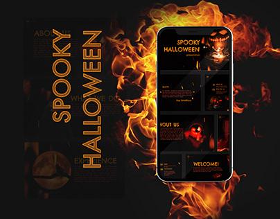 Spooky Halloween - free Google Slides Template