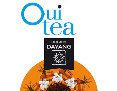 OUI'TEA packaging pour le laboratoire Dayang