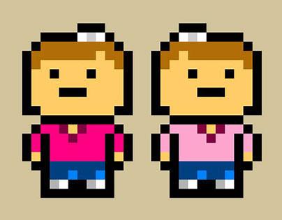 Tribble Twins: 8-Bit Portrait