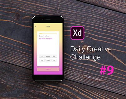 XD Daily Creative Challenge #9 Language Learning App