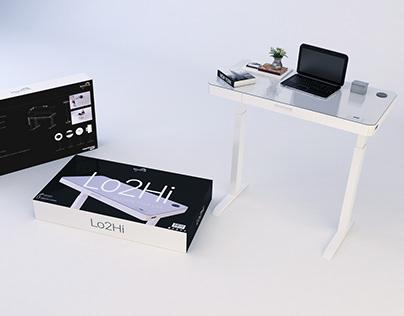 Adjustable Height Desk Packaging R&D